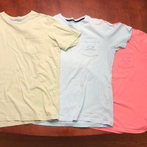 3 vineyard vine boys t shirts size boys large